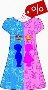 Vestido Chá de Revelação Menino ou Menina- EG