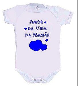 Body Amor da Vida da Mamãe Rosa ou Azul