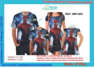 Vestido(s) ou Camiseta (s) Kit ou Avulsos ( Temático ) Familia - Linha New Diversos Personagens