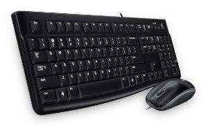 KIT TECLADO E MOUSE USB C/FIO MK120 LOGITECH - 920-002566