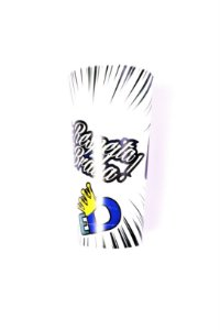 Copo #respeita a Braba (preto e branco)