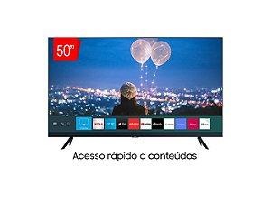 Smart TV Samsung Crystal UHD 50TU8000 4K, Borda Infinita, Alexa built in, Controle Único, Visual Livre de Cabos, Modo Ambiente Foto.