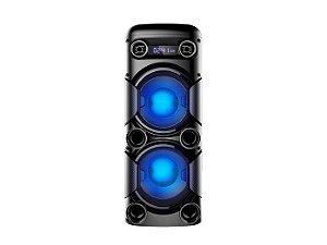 Mini Torre Multilaser 900W - SP380 com Bluetooth, Rádio Fm, Entradas Usb e Cartão de Memória