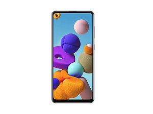 Smartphone Samsung Galaxy A21s, 64GB, Dual Chip, Android 10.0, Octa Core 2.0GHz, Câmera Traseira Quádrupla, Bateria 5000mAh Preto