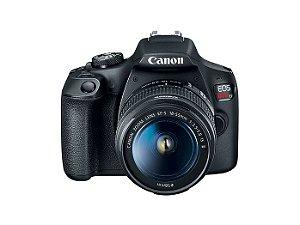 Câmera Digital Canon EOS Rebel T7 com Lente EF-S 18-55mm f/3.5-5.6 IS II