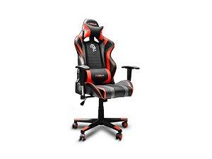 Cadeira Gamer ELG Black Hawk com Apoio Cervical, CH05BKRD