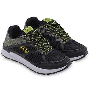 Tênis Jogging Infantil Preto Amarelo Limão Black Free 18015