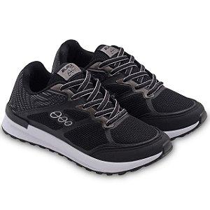 Tênis Jogging Infantil Preto Prata Black Free 18015