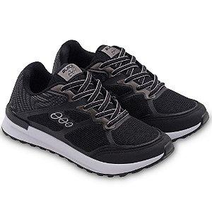 Grade 12 Pares Tênis Jogging Infantil Preto Prata Black Free 18015