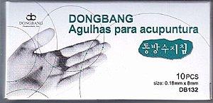 AGULHA DE ACUPUNTURA DONG BANG 0,18 X 08 MM ENVELOPE C/100 unid