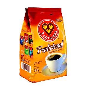 Café Em Pó Tradicional 500 Gramas 3 Corações