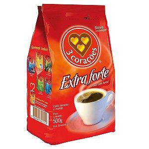 Café Em Pó Extra Forte A Vácuo 500 Gramas 3 Corações