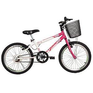Bicicleta Aro 20 Mtb Charme Rosa Com Cesta - Athor