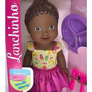 Boneca My Little Collection Lanchinho Negra 8003  - Divertoys