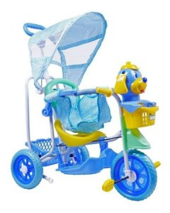 Triciclo Gangorra Cabeça Cachorro Azul - Belfix