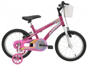 Bicicleta Aro 16 Baby Girl Rosa - Athor