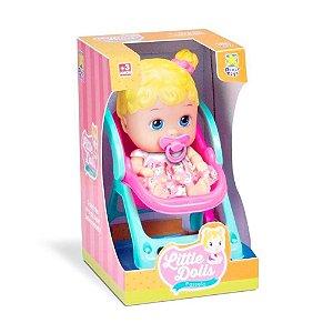 Boneca Bebê Little Dolls Passeio 8027 - Divertoys