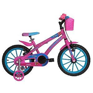 Bicicleta Aro 16 Baby Lux Angel Rosa - Athor