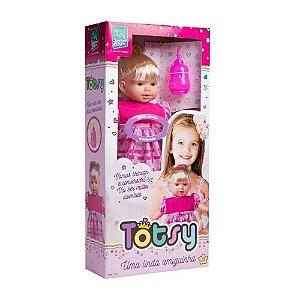 Boneca Totsy 113 Frases Com Cabelo - Super Toys