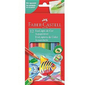 Lápis de Cor  Aquarelável - 12 Cores - Faber-Castell
