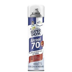 Alcool 70% Spray Aerossol Super Dom 300ml - Domline
