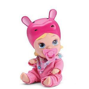 Boneca Little Dolls Soninho Faz Xixi - Hipopótamo 8019 - Divertoys