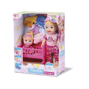 Boneca My Little Collection Brincando De Pijama 8030 - Divertoys