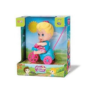Boneca Little Dolls - Playground - Triciclo Menina 8110 - Divertoys