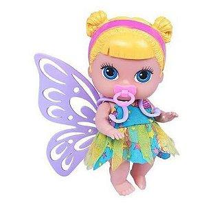 Boneca Babys Collection Mini Fada Loira 372 - Supertoys