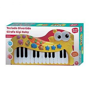 Teclado Divertido Girafa Gigi Baby DMB5793 - DM Toys