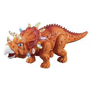 Boneco Dinossauro a Pilha com Luz DMT4724 - DM Toys