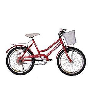 Bicicleta Athor Aro 24 Nature Com Cestão - Vermelha