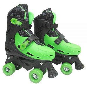 Patins Roller Ajustável – Verde e Preto DMR5854 M - DM Toys