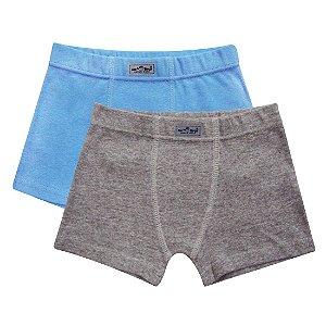Ref 0622N kit c/ 2 peças. Cueca boxer Malha dupla 100% algodão.
