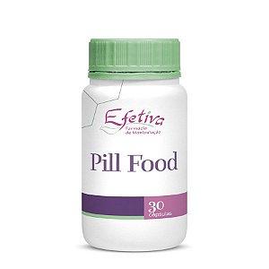PILL FOOD - Complexo Vitamínico para Crescimento e Fortalecimento dos Cabelos, Pele e Unhas