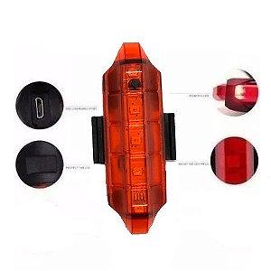 Sinalizador LED Traseiro 10 lumens Recarregável