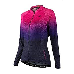 Camisa Ciclismo Feminina Speckle - Free Force