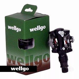 Pedal clip MTB M919 AL. PTO. c/ taquinho - Wellgo