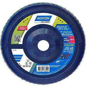 Disco Lixa Flap R822 115 X 22,2 GR 40 - NORTON