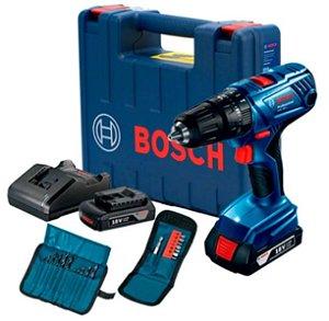 Furadeira/Parafusadeira GSB 180-LI + Kit Acessórios 23 Peças - BOSCH