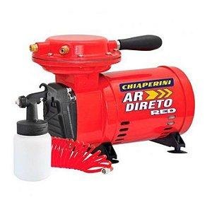 Motocompressor de Ar Direto Red 2,3 Pés 40PSI Mono Bivolt com Pistola e Mangueira - CHIAPERINI-20328