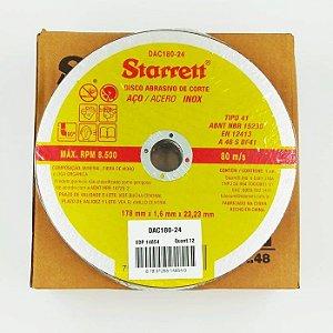 Kit com 12 Discos Abrasivos de Corte 178 x 1,6 x 22,2mm - STARRETT
