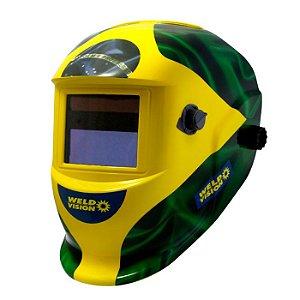 Máscara de Solda Automática Patriota Ton. de 9 a 13 - WELD VISION