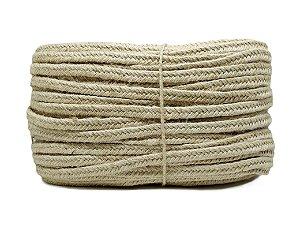 Trança chata - Juta - 11mm (rolo de corda c/200mts) - Opções com Cera ou Queimada