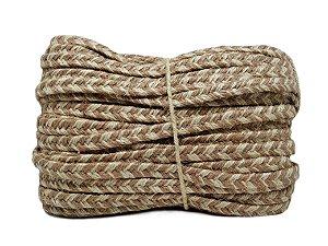 Trança chata - Juta - 11mm (rolo de corda c/40mts)
