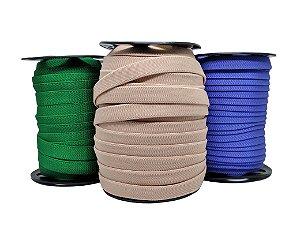Elástico chato - poliester - 15mm (rolo c/25mts) - elástico diagonal
