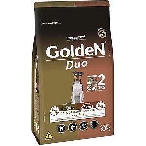 Ração Premier Golden DUO Frango à Moda Caipira e Seleção de Carnes ao Molho Mini Bits 3kg