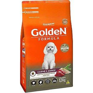 Ração Golden Formula Carne e Arroz para Cães Adultos de Raças Pequenas