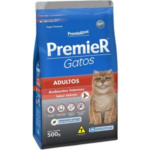 Ração Premier Pet Gatos Adultos Ambientes Internos Salmão