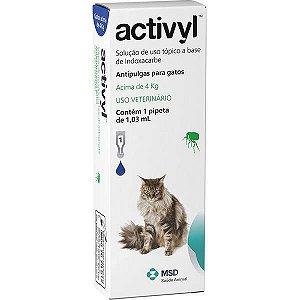Antipulgas MSD Activyl 1,03 mL - Gatos acima de 4 Kg